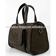 Custom Tweed sport gym travel accessory duffle bag
