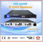 IP QAM Modulator Mux Scrambler,3 modules in 1U, 8 frequency or QAM per Module OL5400C