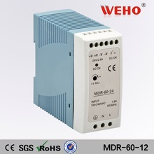 ISO9001 approved mini dinrail dc switch model power supply 60w 12v led power supply 5a