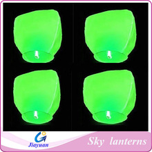 Flying lights sky chinese lanterns, green color wishing ballons Wholesale