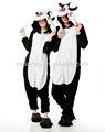 Venta al por mayor negro lobo de franela animal parejas pijamas cosplay