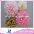 Flores artificiais para coroas, papel pompons para decoração de casamento