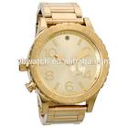 YB 2102 fancy wrist swiss made stainless steel mens gold watch