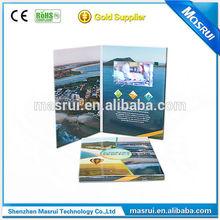 colorful paper advertising brochure/booklet vedio brochure folding