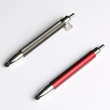 high quality click action promotional banner touch ball pen for ad advertising