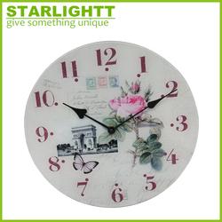 Unique creative design custom glass wall clock