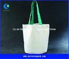 plain white cotton canvas tote bag for shopper