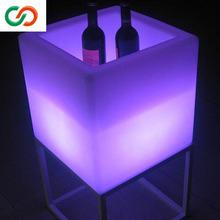 Cube Barware dark Blue Color LED Ice Bucket &ice bucket