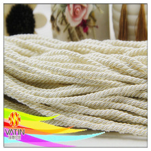 Popular shiny white color craft rope hot sale for gift packing decoration