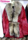 2014 newest rabbir fur skin with raccoon collar coats & comfortable rabbit fur skin coats