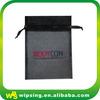 Custom logo printed drawstring jewelry organza bags wholesale