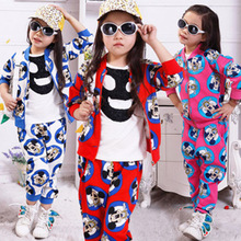 New design halloween lovely clothing wholesale mickey mouse clothes for girl