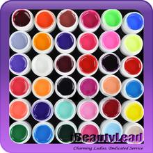 hot sale 36 colors nail solid gel uv gel set pure color nail art set