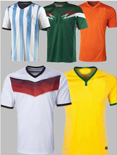 oem plain national team and club football team sportswear , thailand original soccer jersey