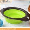 wholesale china factory sale foldable silicone travel pet bowl