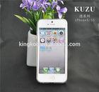 Kuzu high quality fashion design transparent mobile phone case for apple iphone 5/5s