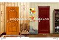 Nuevo diseño tallado redondo doble de la hoja de la puerta de madera