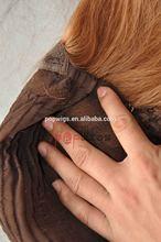 Neck Hand Tied Pony Tails 100% Human Unprocessed Virgin Groden BLonde hair silk top jewish kosher wig