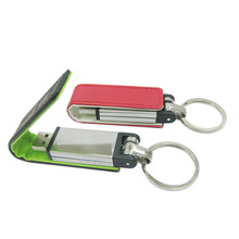 Durable Leather Case Usb Flash Drive Leather with Keychain