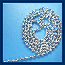 silver color stainless steel ball chain for string curtain