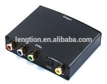 HD 1080P Component Video Ypbpr CVBS Digital SPDIF Optic Coaxial Audio to HDMI Converter HDTV AV Adapter