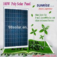 High quality 100W poly solar module