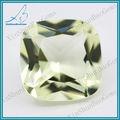 Wuzhou proveedor vidrio de color amarillo claro de piedra, De China cristal de las gemas
