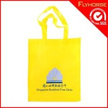 Wholesale Custom Cotton Yellow Women Tote Bag