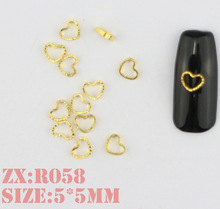 Heart shape nail Metal Small ring circle Nail Art