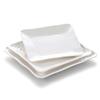 6475 Wholesale high quality similar porcelain square plates for Thailand restaurant