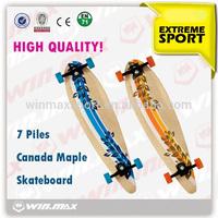 Winmax Brand 2014 Complete Professional Leading Manufacturer Longboard Skateboard, Hot Sale Canadian Maple Long Board Skateboard