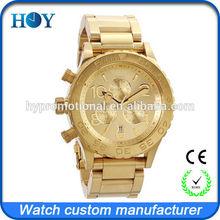 gold chronograph custom watches unique fashion design