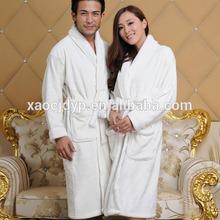 promotion wholesale high quality soft white hotel terry bathrobe
