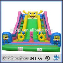 Funny Gaint Spongebob Inflatable Slide For Kids
