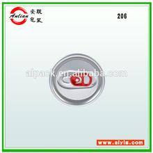 De bebidas gaseosas de aluminio fácil de abrir la tapa 206 #