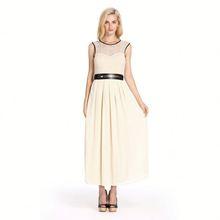 2014 Summer Hot Sale Ladies Office Wear Style Lace Chiffon Dress