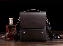 2015 high quality fashion men shoulder leather handbag men handbag