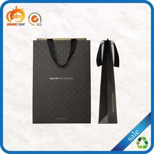 2014 matt laminate cheap custom printed luxury black paper bag