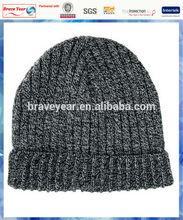 100% acrylic mixed knit men's beanie/knitting patterns men hats/machine knit acrylic beanie