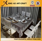 white wedding hand embroidery designs tablecloth and chair cover 160X250CM