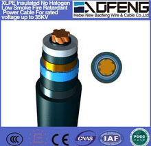 NBF cable Rated voltage 6/6 6/10KV, 1-core, XLPE Insulated PVC/PE Sheathed Power Cable