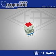Hot sale IP40 3A 250V AC Single pole Face mask illuminated Latch Led 4 pin push button switch