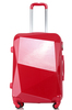 Shining red luggage, luggage for travelling, abs and pc luggage