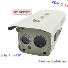 Super Low Price!!! 25M IR Outdoor Bullet CCTV Security Waterproof Camera with 1pc Array LED