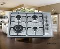 De acero sólido de gas cocina de 4 hornillas con apoyo esmalte sartén y quemador de aluminio para la venta!