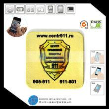 Promotional Item Self Adhesive Cellphone Microfiber Screen Cleaner