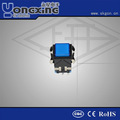 venta caliente ip40 3a 250v ca de un solo polo máscara de la cara sistema de iluminación led del cierre de botón interruptor de membrana