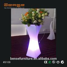 LED decoration LED display illuminated flower pot plastic vase