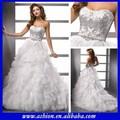 Tao we-1235 bao de novia de organza vestido de falda de volantes de lujo de novia vestido de novia con piedras