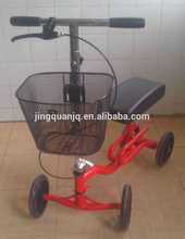 """8"""" wheels foldable Knee Walker / Comfort Steering knee scooter with Basket"""